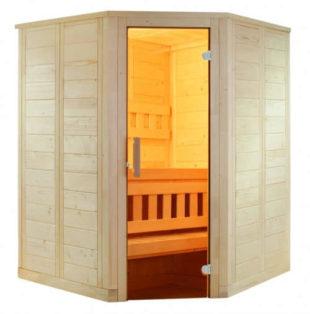 Finská mini sauna z dřevěného materiálu