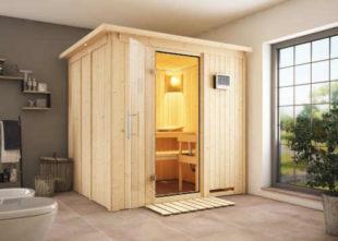 Finská sauna ze dřeva určena do interiéru