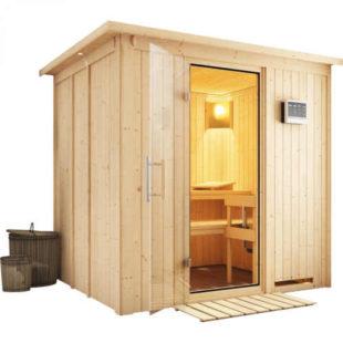Interiérová finská sauna pro 2 osoby