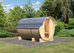 Venkovní finská sudová sauna