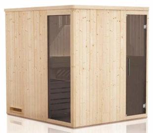 Středně velká finská sauna Baumax PERHE 2018