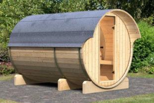 Venkovní finská sudová sauna 216 x 330 cm